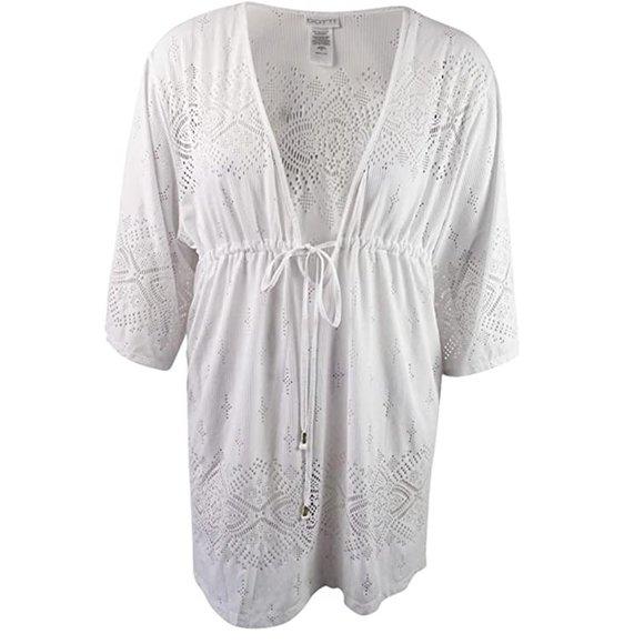 Dotti Swim Nwt Tunic Kimono Suit Cover Up White Poshmark